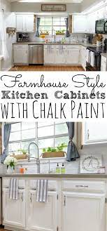 painting kitchen cabinets with chalk