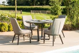 pacific 4 seat round dining set taupe
