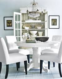 sophisticated version of white dining room
