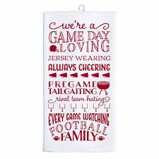 Kitchen Tea Game Game Day Tea Towel Crimson Prince Wimbley Productions