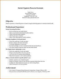 Resume Resume Dental Hygienist