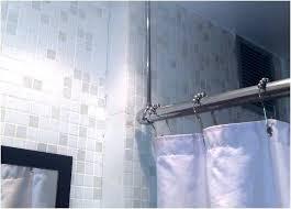 full size of curved shower curtain rail bq black tension rod croydex ceiling mount bathrooms winning