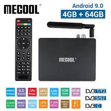 Mecool K7 DVB S2 DVB T2 DVB C Android 9.0 TV Box 4G 64G Amlogic S905X2  2.4G/5G wifi Thông Minh USB 3.0 Truyền Hình Hộp Đa Phương Tiện