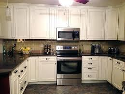kitchen backsplash white cabinets brown countertop. Backsplash With White Cabinets Kitchen Brick And Brown Countertop C