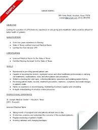 Lpn Resume Examples Resume