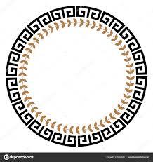 Circle Border Greek Key Frame Typical Egyptian Assyrian Greek Motives