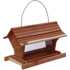 garden treasures natural cedar hopper garden treasure bird feeder