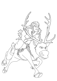 Frozen Kristoff Coloring Pages