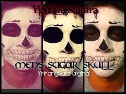 men s sugar skull with makeup