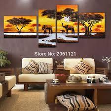 Oil Paintings For Living Room Popular Elephant Oil Painting Art Buy Cheap Elephant Oil Painting