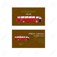 Business Card With Bus Transportation Business Card