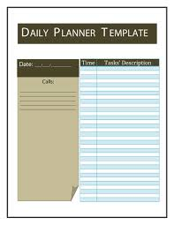 homework planner template pdf 40 printable daily planner templates free template lab