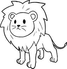 Small Picture Cute Cartoon Comic Lion Coloring Page Wecoloringpage