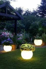 outdoor lighting ideas for backyard. pot lamps for attractive garden idea outdoor lighting ideas backyard n
