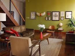 mid century modern paint colors living room