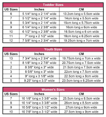 shoe size chart width perfect chart for sizing crocheted slippers for each shoe size with