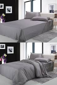 Free shipping100%cotton fabric silver gray white 4pcs bedding sets Twin  Full Queen King size