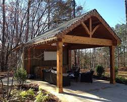 free standing patio roof building plans