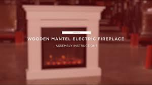 assembly wooden mantel electric fireplace sky3024