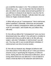 behavior modification project by ap psychology marketplace tpt behavior modification project