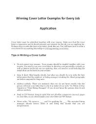 Cover Letter Examples For Part Time Jobs Example Of Resume