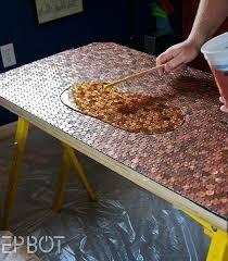 diy table tops view in gallery crafting your own penny table cool diy tabletop ideas