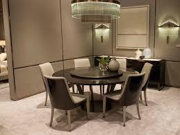 lacquered round wooden table with lazy susan paris table with lazy susan by hugues chevalier