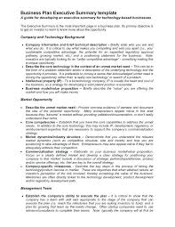 Executive Summary Sample For Proposal 2 Page Business Plan Free One Templates Proposal Executive