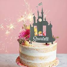 Castle Personalised Birthday Cake Topper For Birthday Party Girl