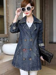 denim womens 2017 double ted trench coat appealing