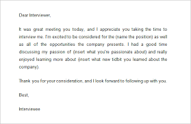 9 Follow Up Email Templates After Interview Doc Pdf Free