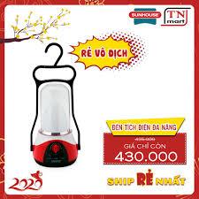 TRỢ GIÁ SHOPPE] Đèn tích điện đa năng 360LED SUNHOUSE SHE-6036LA đỏ