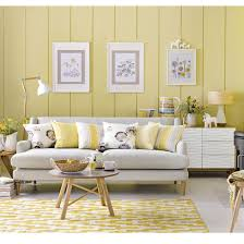 scandi yellow and grey living room