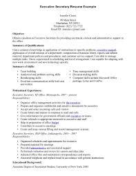 Secretary Objective For Resume Examples Secretary Resume
