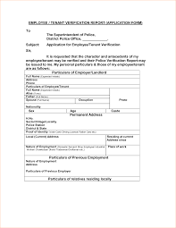 Tenant Verification Or Confirmation Form Template Printable Rental