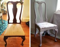 chalk paint furniture before and afterRefinished Chairs in Paloma Chalk Paint and Normandie Toile