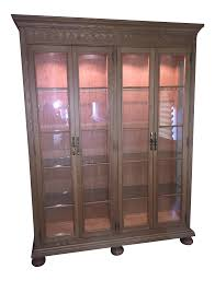 Dish Display Cabinet Vintage Used Rustic China And Display Cabinets