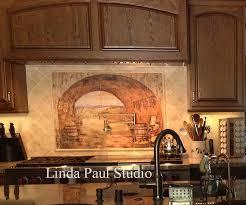 everything tuscnay kitchen backsplash tile mural idea