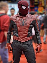 spiderman the last stand red and black leather jacket