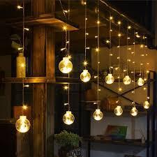 Bộ Đèn LED rèm nháy bóng tròn màu Vàng 12 quả bóng size 8cm