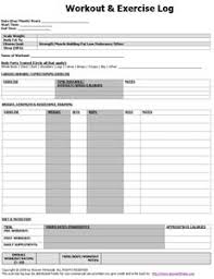 free workout log free printable workout log exercise training logs answer