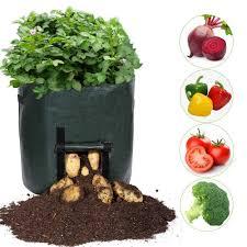 <b>2pcs</b> DIY <b>Grow</b> Planter bags PE Cloth <b>Planting Container</b> Bag ...
