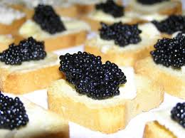 Caviar on bread