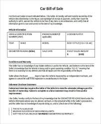 Sample Bill Of Sale Template In Word 9 Examples In Word