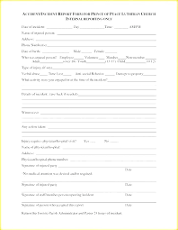 Software Incident Report Template Environmental Form Generic
