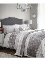 velvet panel bedding collection silver