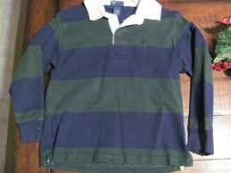 details about boy s polo ralph lauren rugby shirt s 8 10 blue green striped