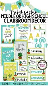 Classroom Decoration Charts For High School 214 Best Secondary Classroom Decor Images In 2019