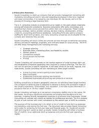Executive Sumary Consulting Business Plan Executive Summary Sample Plan Llc