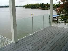 glass railing for decks glass deck railing systems immense home design ideas interior 8 diy glass